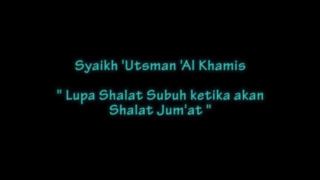 Senyum Syaikh 'Utsman Al-Khomis Dalam Menjawab Pertanyaan Unik